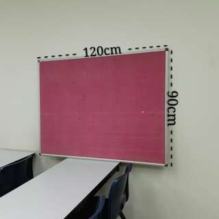 Notice Board (Pink Felt Pin )