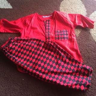 Cotton Baju Melayu Size S (1-2tahun)