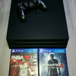 Ps4 pro with free games