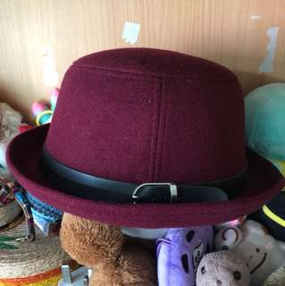 RED KOREAN STYLE HAT