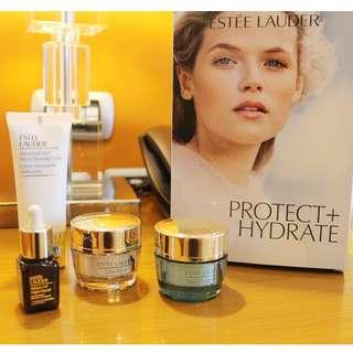 Estee Lauder make up, lipstick and skin care set
