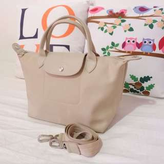 Longchamp Le Pliage Neo Small Handbag (Beige)