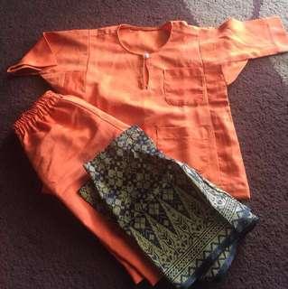 Baju Melayu Size 1-2tahun