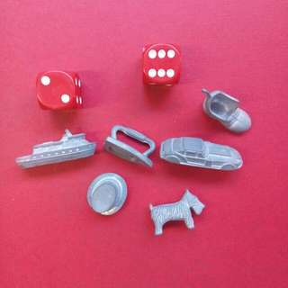 Game Pieces Vintage Monopoly