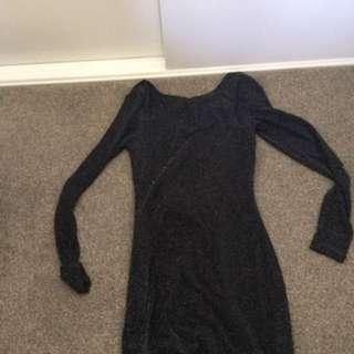 Black sparkley cocktail dress