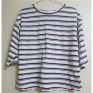 BNWT Korea Striped Top