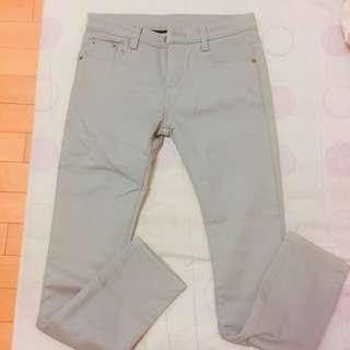 🚚 灰色內刷絨褲 27腰