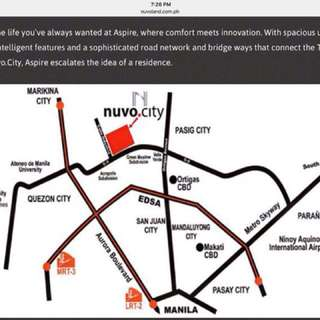 nuvo city condo for rent studio fully furnished