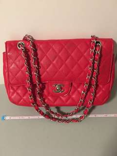 Chanel inspired red classic flap