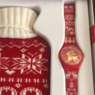 Swatch Special Red Knit Watch 10271/14999