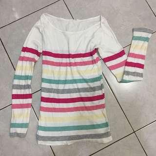 Cotton on rainbow top