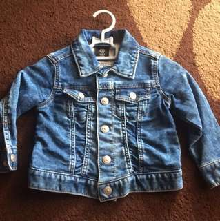 H&M Denim Jacket Size 1-2tahun