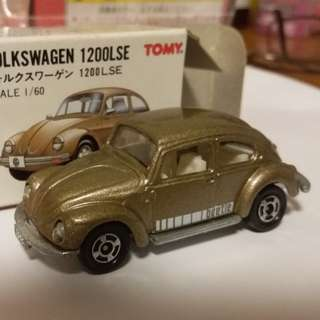 Tomica tomy車 no 100 號 Volkswagen 1200LSE 1:60 福士 甲蟲車