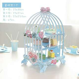 3 Tier Bird Cage Cake Stand
