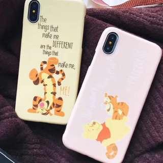 手機殼IPhone6/7/8/plus/X : Winnethepooh維尼熊跳跳虎
