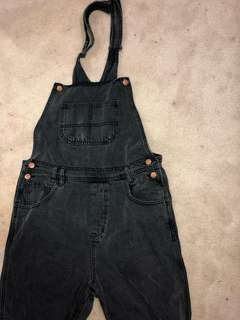 Black Insight long denim overalls