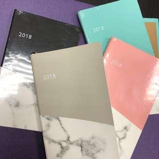 Notes&Dabbles® 2018 Diary 筆記簿 日記簿