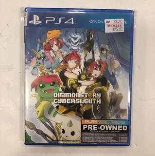 PS4 PREOWNED DIGIMONSTORY CYBERSLEUTH
