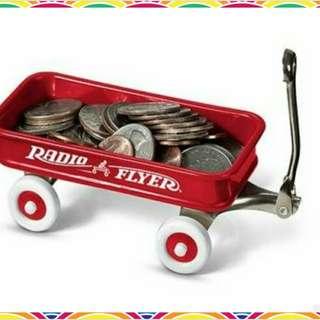 🎉只有一個★全新正版★Radio flyer 火柴盒小拖車