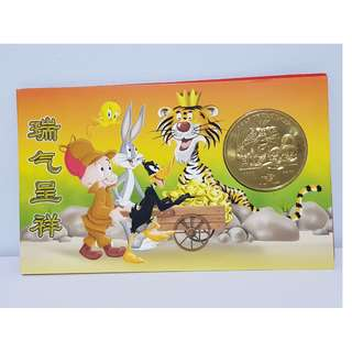 Uncirculated Loony Tunes Medallion Coin & Banknote Set