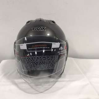 Trax Race ZR Copper Grey (New Color) Motorcycle Half Face Helmet