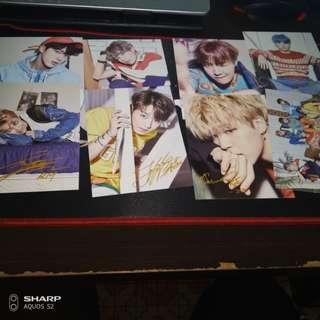 BTS的明信片跟個人照片(買就送貼紙)