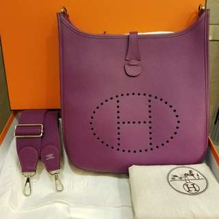 Hermes Evelyn 29cm P9 anemore color