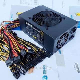 Mining Rigs PSU 8 GPUs 1600w
