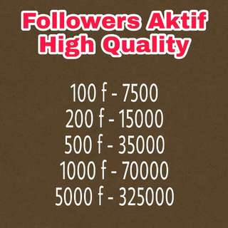 Followers Aktif