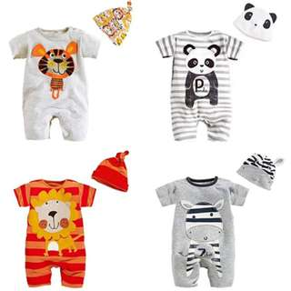 Cute Animal Baby Costume Jumpsuit and Hat