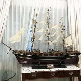 Scaled Model (Wood) of Cutty Sark / Clipper Ship 1869