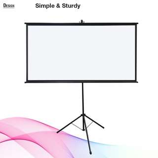 "[BIGSHINE] 60"" (16:9) EZ Tripod Projector Screen-Restock early April 2018"