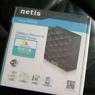 Netis Wireless and Portable Router 150Mbps WiFi Extender Wall Mount Model. WF2416