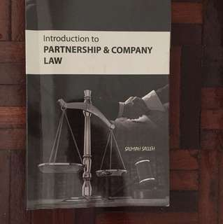 Introduction to Partnership & Company Law