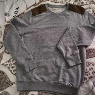 Grey Sweatshirt with Should Patch