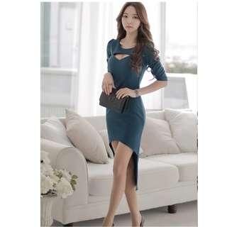 Korea Sexy High Low Design Dress (PO)