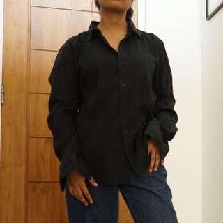 Vintage Black Pleats Shirt