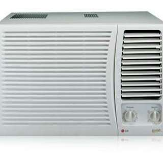 Lg gold aircon window type 1HP