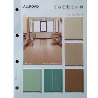 Lantai vinyl roll rumah sakit banyak pilihan warna