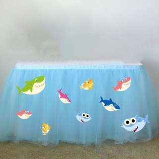 Customised Baby shark Doo Doo Table skirting cutout