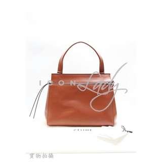 CELINE Edge Medium 啡紅色(Sienna)小牛皮 & 深藍色小羊皮內襯 (中號) 手挽袋 肩背袋 手袋