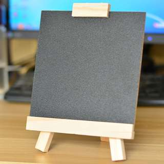 WOODEN CHALKBOARD WITH STAND 15x14CM