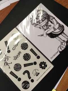 台灣插畫貼紙組、小卡