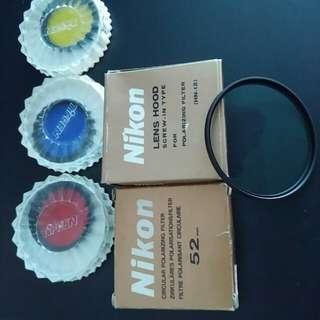 Nikon Polarizing Filter & Metal Lens Hood - To give away...