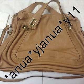 (二手品) 購自法國 歐洲 原價870Euro 珊瑚色 最後劈價 $3800 真品 Chloe 2ways Paraty bag 有單有塵袋