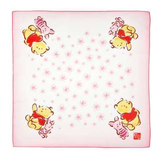 Japan Disneystore Disney Store Pooh & Piglet SAKURA Wrapping Cloth Preorder
