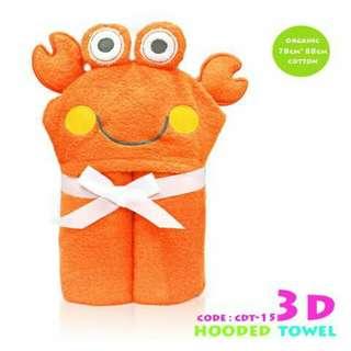 3D Kids Hooded Towel CDT15
