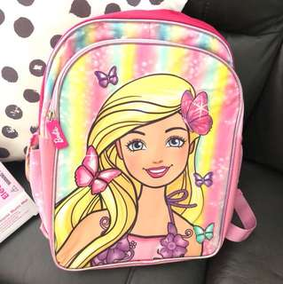 Barbie kids school bag
