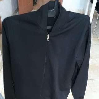 Unisex bomber jacket (black)