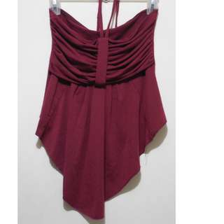 Maroon Backless Blouse